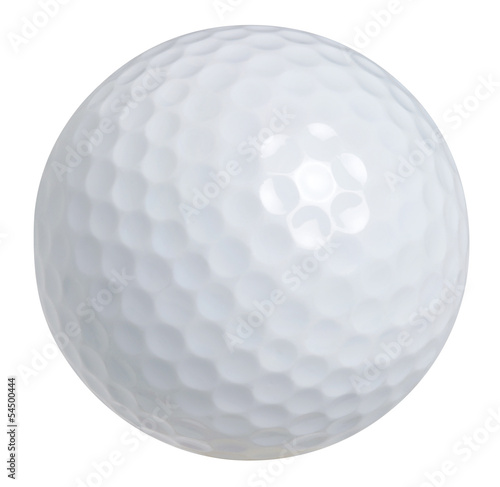 A golf ball isolated on a white background with clipping path Canvas Print