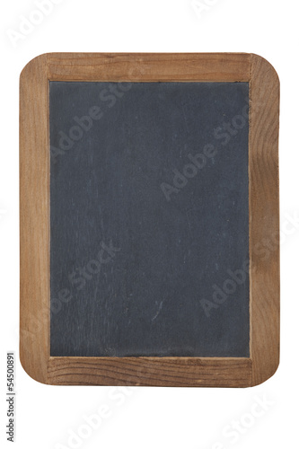 Old slate primer isolated on white with clipping path Canvas Print