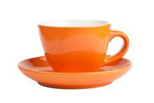 Empty Orange Cup, Front View