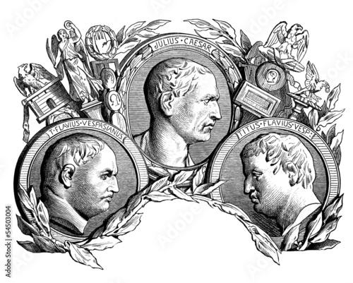 Canvas Print 3 Emperors portraits - Ancien tRome