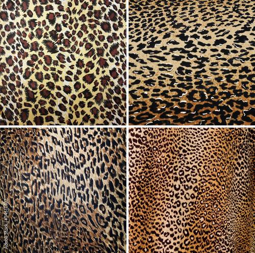 Staande foto Kunstmatig Wild Animal pattern collage