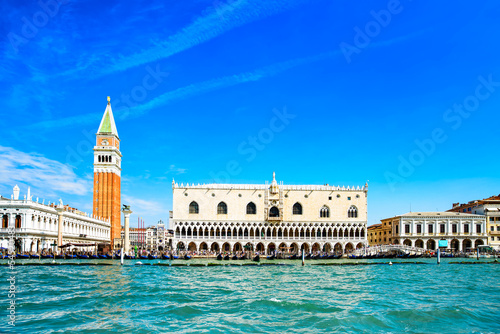 Poster Venise Venice landmark, Piazza San Marco view from sea. Italy