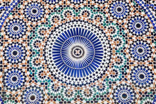 Fotografia Oriental mosaic in Morocco, North Africa