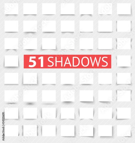 Obraz Set of transparent realistic shadow effects - fototapety do salonu