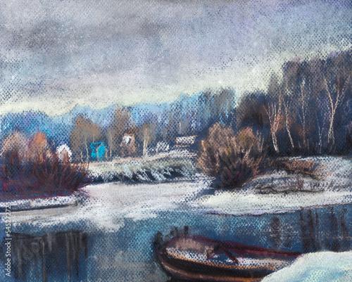 Nowoczesny obraz na płótnie November, Soon winter