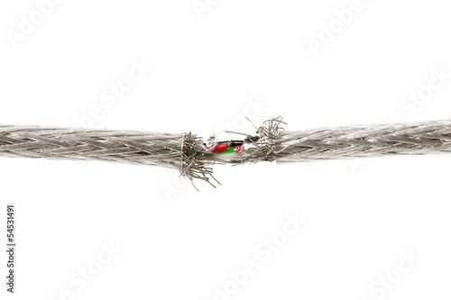 Fotografia, Obraz  warranty problem  concept with torn wire