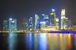 Beautiful viewpoint city of Marina Bay Sands