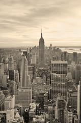 Panel Szklany Czarno-Biały Empire State Building