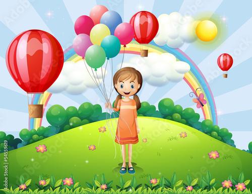 dziewczyna-trzyma-balony