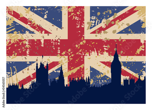 Papel de parede Great Britain's Flag and London
