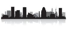 Baltimore City Skyline Silhoue...