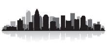 Charlotte City Skyline Silhoue...