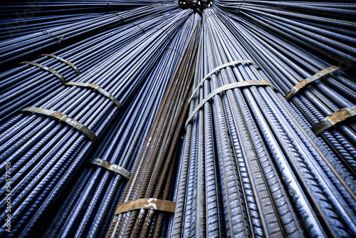 Background texture of steel rods Fototapet