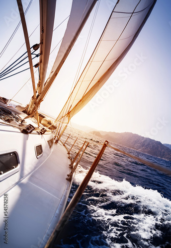 Fotografia Luxury yacht in action