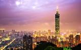 Eine Nacht auf Taiwan. Fototapete.