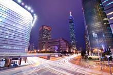 Taipei, Taiwan Cityscape In Th...