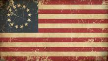 USA Betsy Ross Aged Flat Flag