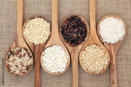 Fotografie, Obraz  Rice Varieties