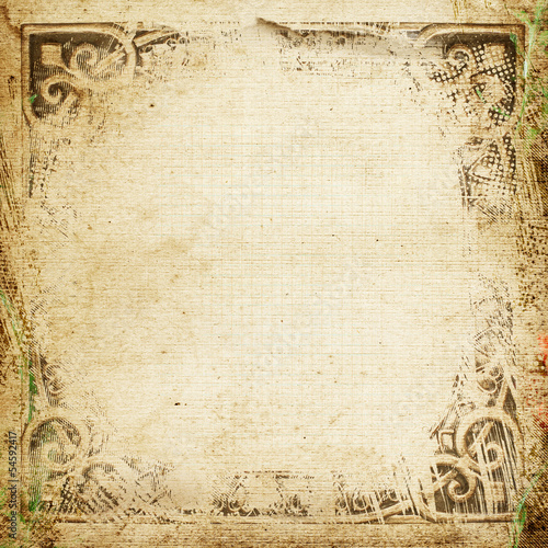 Poster Retro grunge background with space for text or image