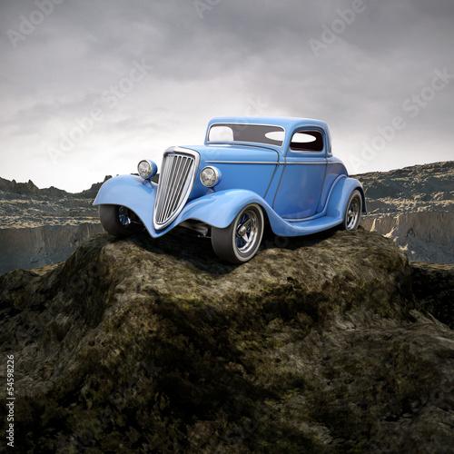 goracy-pret-w-overcastted-srodowisko-naturalne-3d-ilustracji