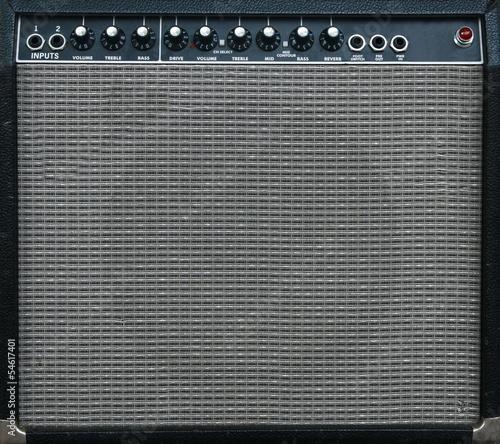 guitar amplifier background Canvas Print