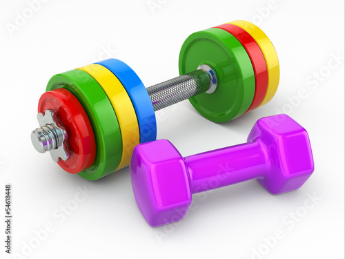 koncepcja-fitness-ciezarki-hantle
