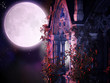 canvas print picture - magical gothic night