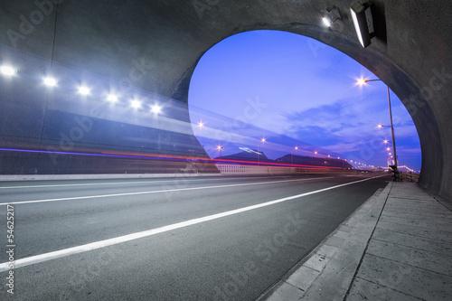Fotografie, Obraz  motion truck go through the tunnel