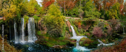 Garden Poster Roe beautiful view with the waterfalls of duden in Turkey