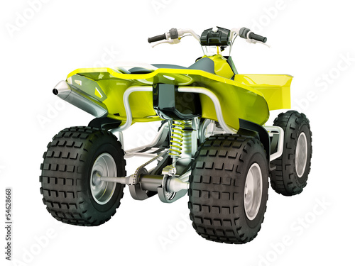Quad bike isolated