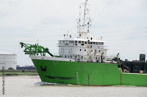 Fotografia, Obraz  Dredging ship