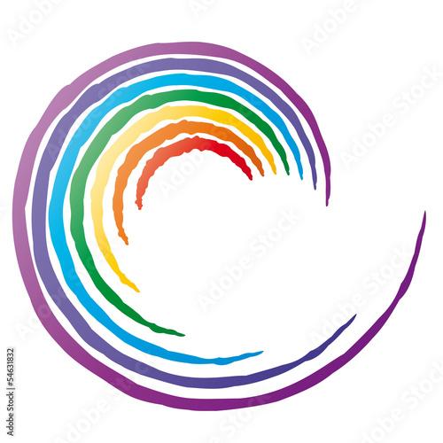 Fotografie, Obraz  Chakra Wirbel - Energiewirbel, Logo für Meditation, Achtsamkeit und Entspannung
