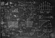 Financial ideas on a blackboard