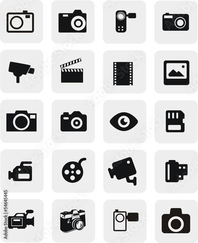 Obraz 20 boutons photo et vidéo - fototapety do salonu