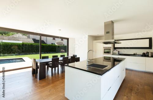 Modern villa interior beautiful kitchen and dining table u2013 kaufen