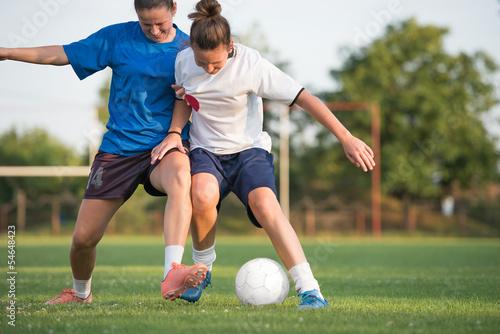 Fotografiet  female soccer