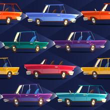 Cars. Seamless Pattern
