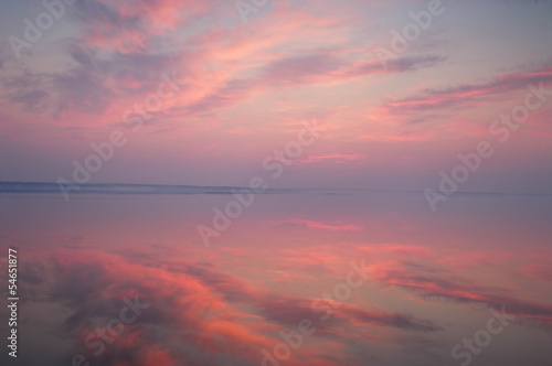 Foto op Canvas Candy roze Pink sunset