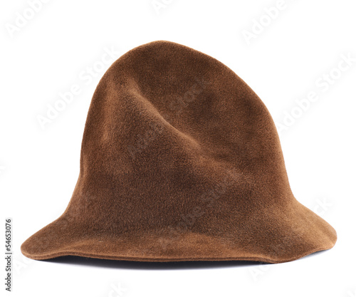 Brown hat isolated Wallpaper Mural
