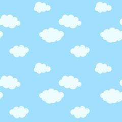 Bešavni uzorak s crtanim oblacima