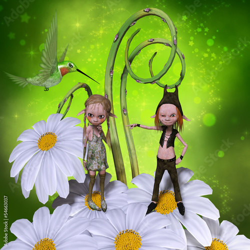 Aluminium Prints Fairies and elves Elfs