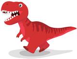 Fototapeta Dinusie - Dinosaur tyrannosaurus