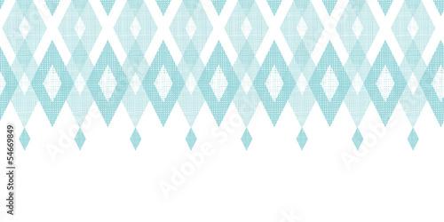 Carta da parati Vector pastel blue fabric ikat diamond horizontal seamless