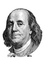 Benjamin Franklin (head To The Right)