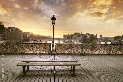 Poster Parijs Pont des arts Paris