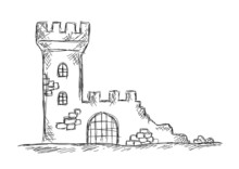Drawing Of Castle Ruins