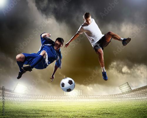 Staande foto Voetbal Two football player