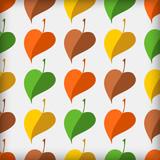 Autumn abstract vector seamless pattern.