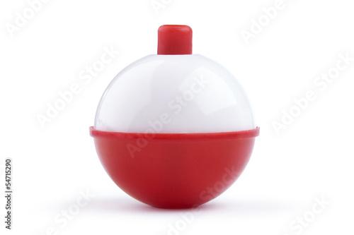 Fotografie, Obraz Red and white fishing bobber isolated on white