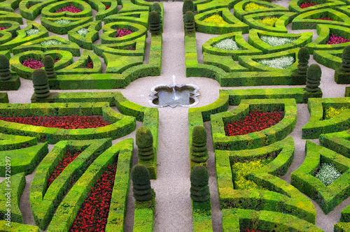 Photo jardins de la Villandry